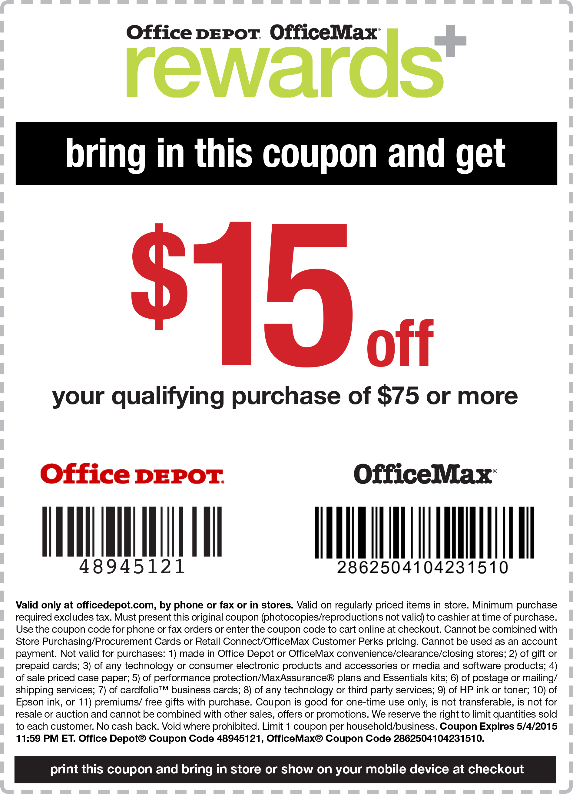 Office depot discount coupon