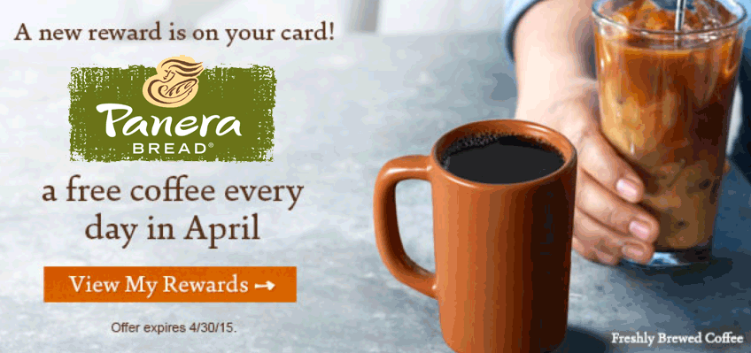 PaneraBread.com Promo Coupon Free rewards members enjoy free coffee daily all month at Panera Bread