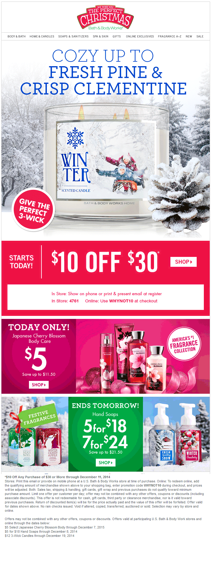 Bath and body coupons 10 off