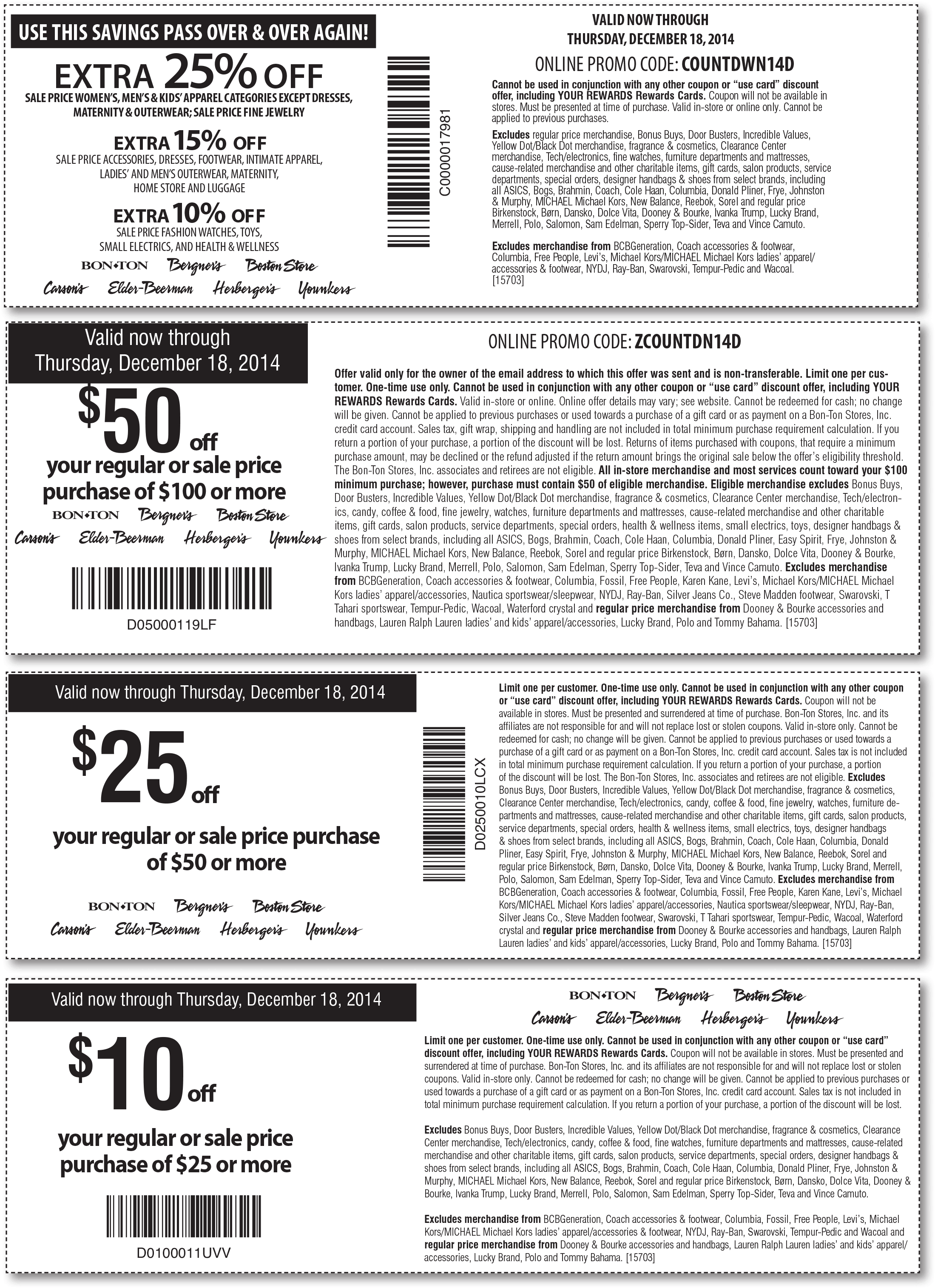 Bon ton coupon codes