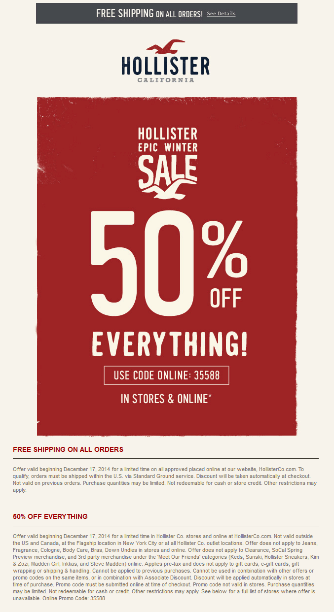 Hollister printable coupons oct 2018