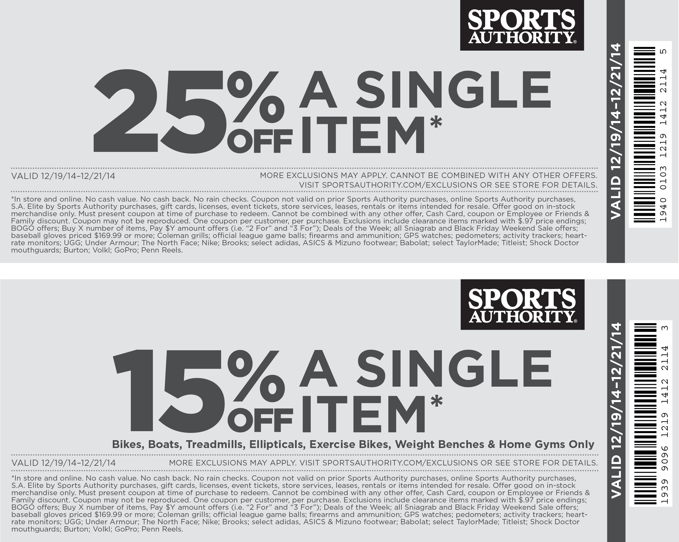 Sports authority discount coupons