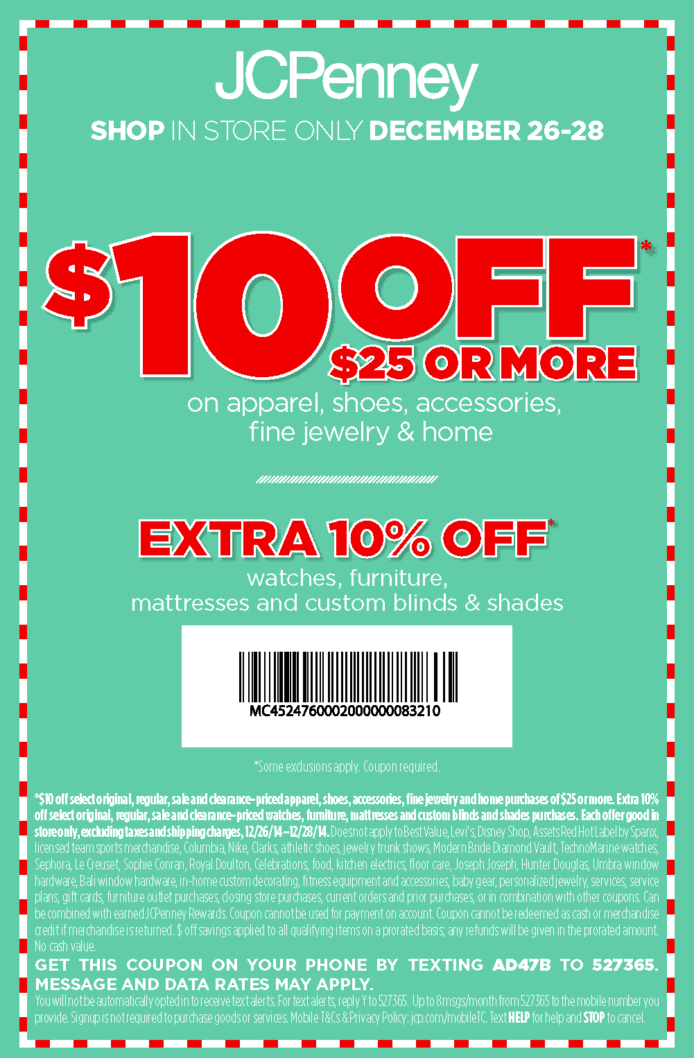 Jcpenney coupon codes 2018
