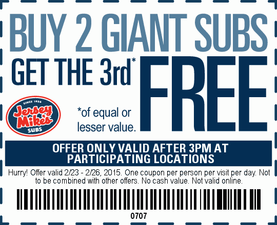 photo regarding Jersey Mikes Printable Coupons known as Jersey mikes tarzana discount coupons - Woothemes coupon