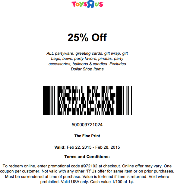 photograph relating to Baby R Us Coupons Printable named Discount codes for toys r us march 2018 / Coupon codes 30 off
