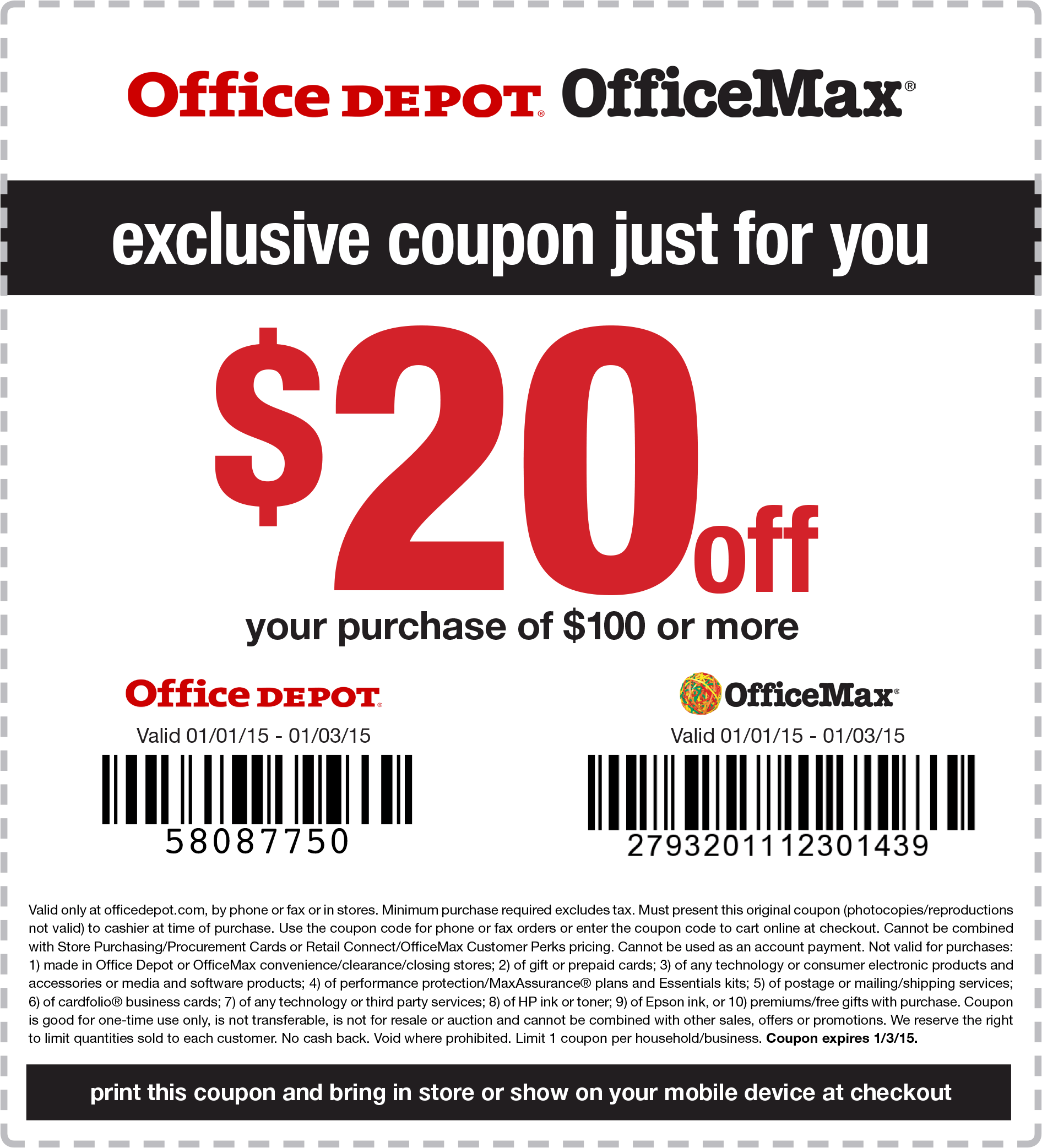 Office depot printable coupons in store 2018
