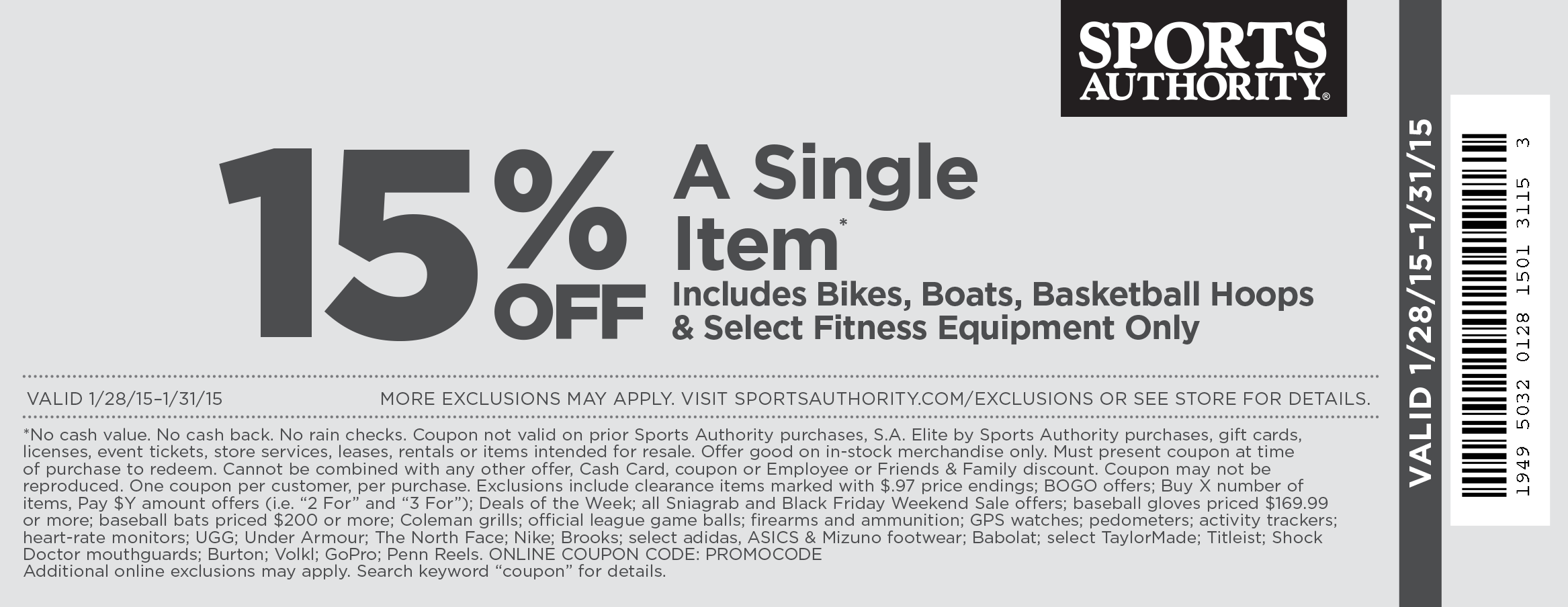 photo regarding Sports Authority Coupons Printable identified as Sports activities authority on the internet discount codes august 2018 - Earthbound