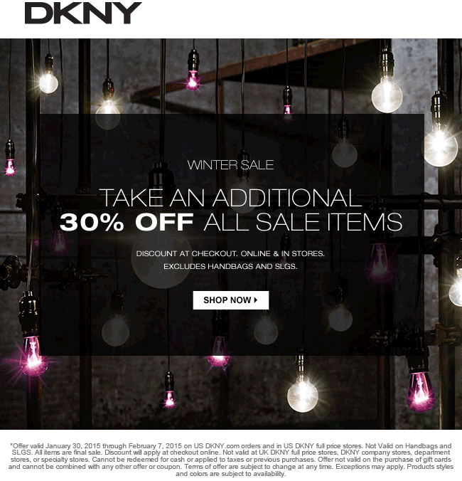 Dkny discount coupons