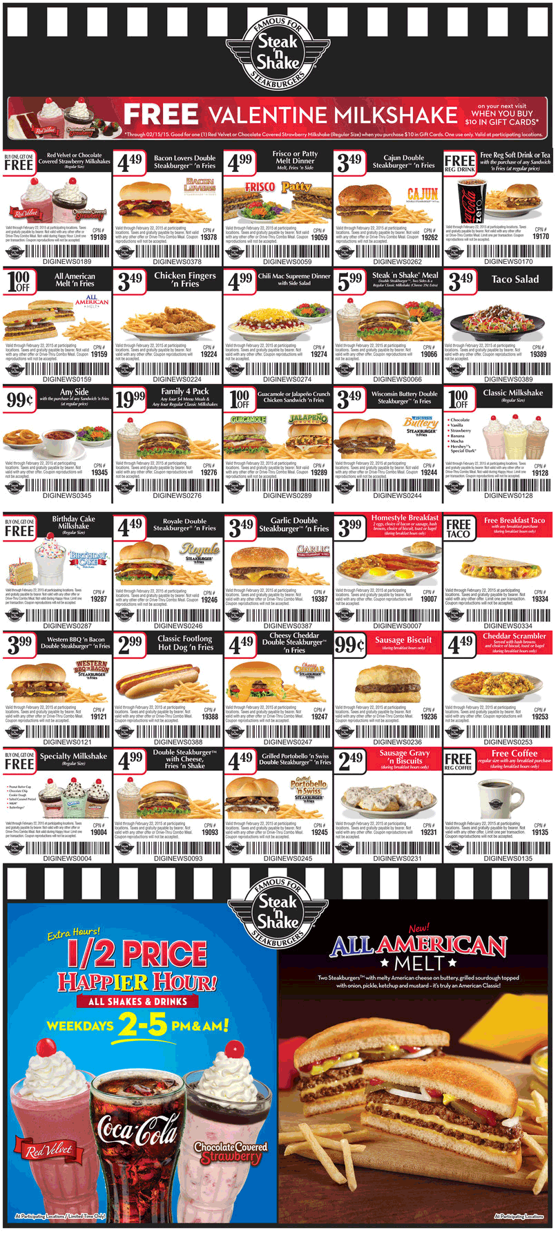 Steak and shake coupon codes