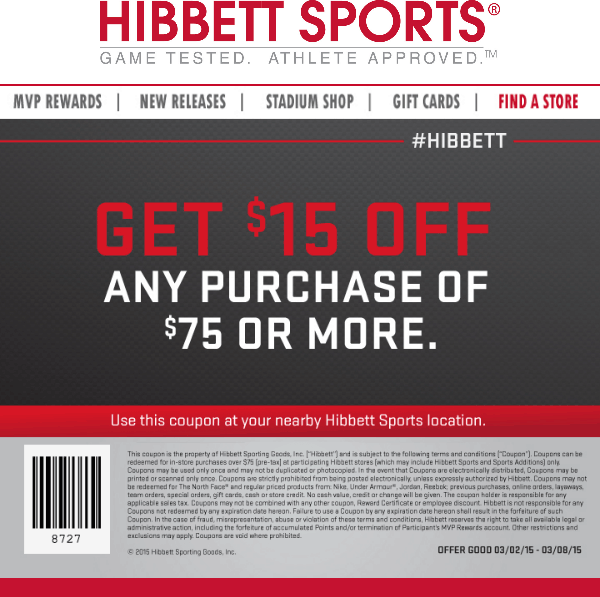 Hibbett Sports Coupon Offers & Promo CodesRewards Coupons · 50% Off Coupon · 40% Off Coupon · Save money with coupons.