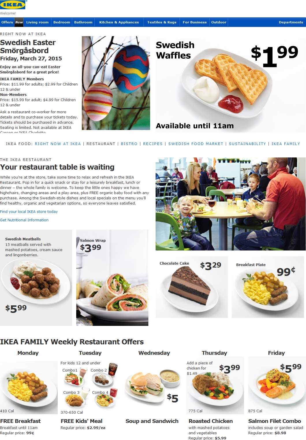 Promo coupon free breakfast monday free kids for Ikea free kids meal