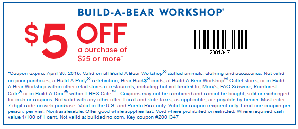 graphic relating to Build a Bear Printable Coupons named Develop a endure workshop discount codes british isles - Halo heaven coupon code 2018