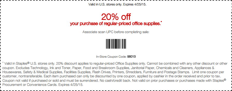 staples coupon codes april