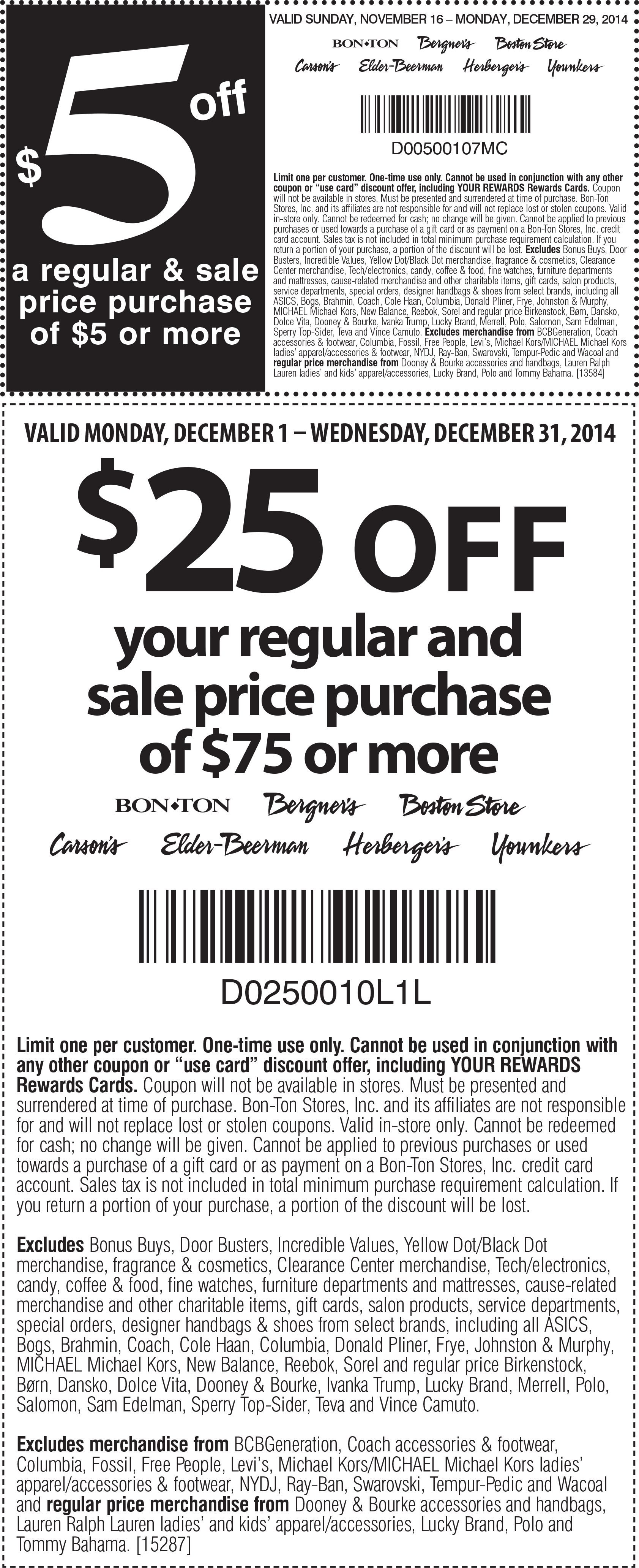 picture relating to Bon Ton Printable Coupon referred to as coupon codes / Deck excursion