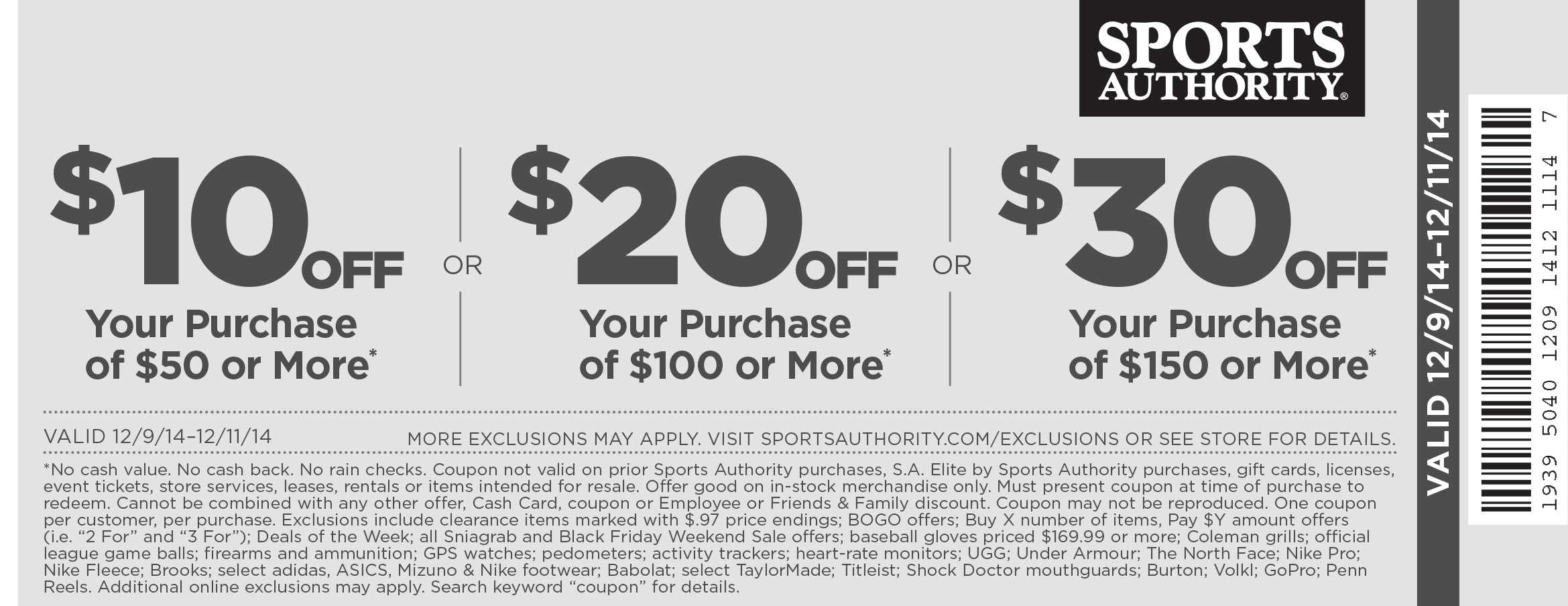 Sports authority discount coupon
