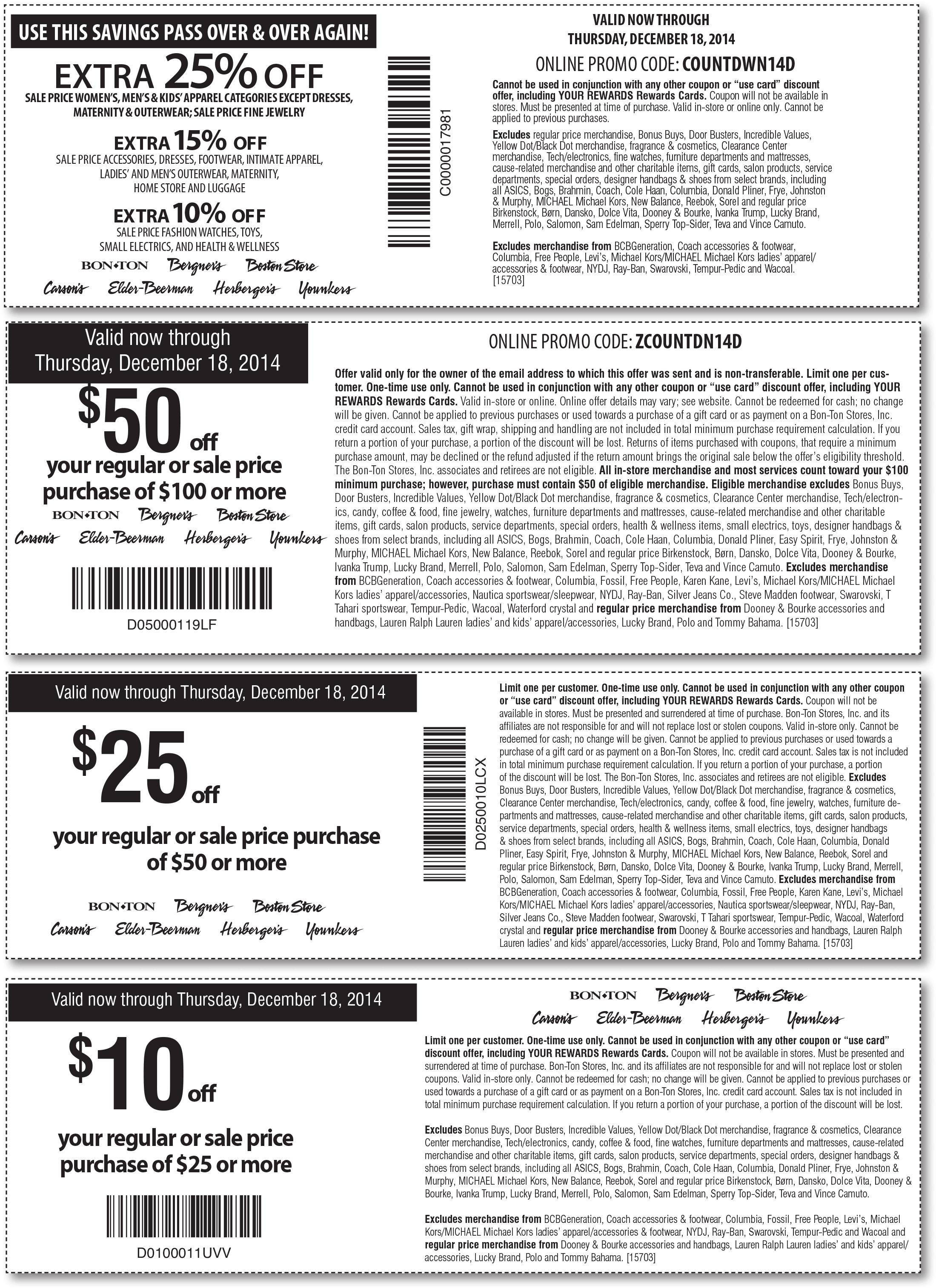 bon ton coupons 10 off 25 more at carsons bon ton. Black Bedroom Furniture Sets. Home Design Ideas