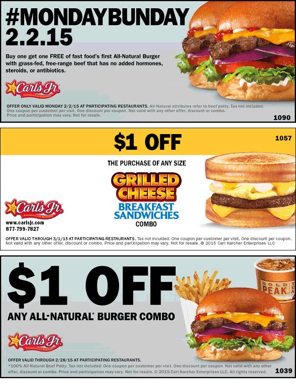 image regarding Carls Jr Coupons Printable referred to as Carls jr coupon codes menu : Natasha salon promotions