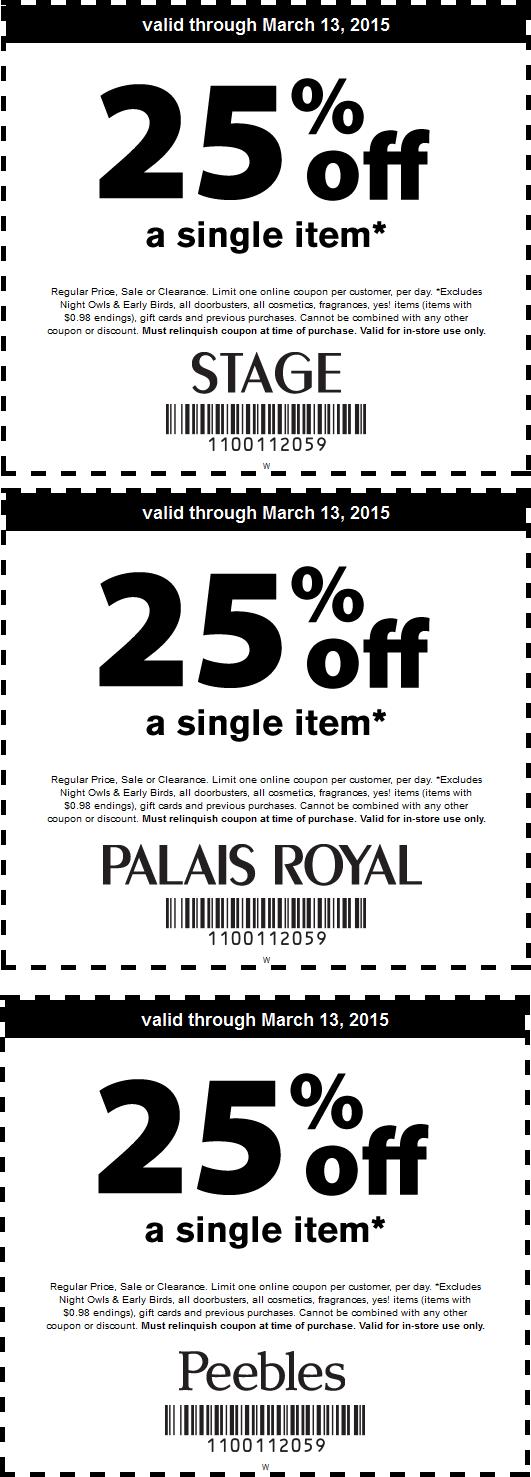 Palais royal coupons today