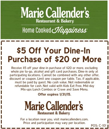 marie callender coupon