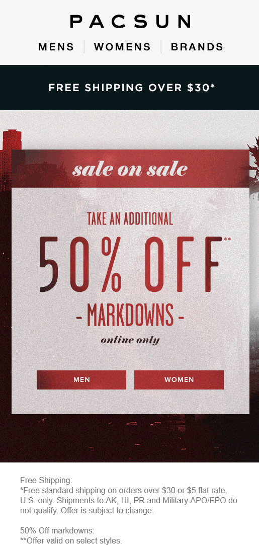 photograph regarding Pacsun Printable Coupon referred to as Pacsun coupon codes 50 off - Hair color discounts toronto