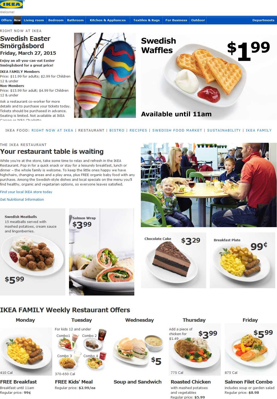 Ikea Coupon Restaurant
